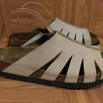 Guc Betula by Birkenstock Durban Sandals Cut Out Taupe Suede Sz 39 8 8.5 Photo