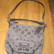 Guc Coach Kristin Op Art Signature Gray Hobo Shoulder Handbag Purse Photo