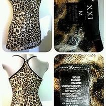 Guc Forever 21 Leopard Lace Racer Back Tank Size Medium Gg2 Photo