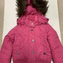 Guc Girls Gapkids Pink Winter Hoodie Jacket Size Xs (4/5) Photo