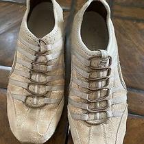 Guc Skechers Leather Sneakers Slip on Shoe Sz 8 Elastic Laces Photo