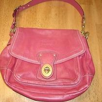 Guc Vintage Red Leather Coach Bag Purse  Photo