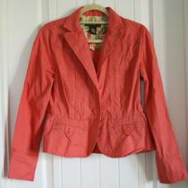 Guc Women's Size 6 Bandolino Coral/pink Casual Blazer Jacket 100% Cotton Photo