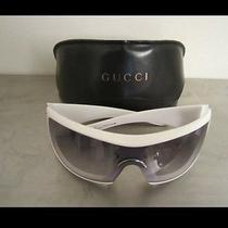 Gucci 1549/s White Optyl Ruthenium Unisex Authentic Sunglasses -Rare- Photo