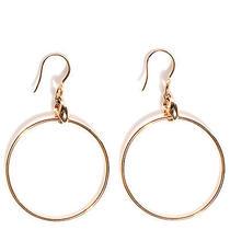 Gucci 18k Rose Gold Marina Chain Dangle Hoop Earrings Photo