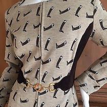 Gucci 1970's  Equestrian Boot Theme Vintage Dress With Horsebit Belt Photo