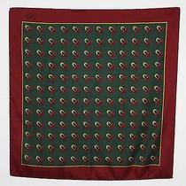 Gucci 1970's Vintage Logo Classic Horseshoe Pure Silk Signed Designer Scarf Photo