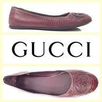 Gucci 575 Purple Snakeskin Ballet Flats9 Photo