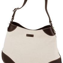 Gucci Abbey Tote White Canvas Gg Leather Tote Handbag 272386 521753.04 Photo