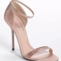 Gucci Antique Rose Crystal Heels Blush Rose Gold Stilettos Size 38 Us 8.5 Photo