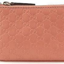 Gucci Authentic Blush Pink Microguccissima Coin Purse Keychain Wallet Photo