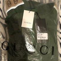 Gucci Authentic Men Large Green Hoodie Cotton Sweater  Euro 890/1250. Photo