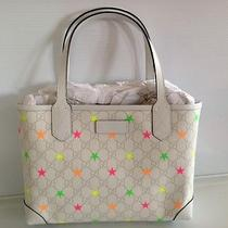 Gucci Authentic Nwt White Canvas Stars Tote Photo