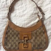 Gucci Authentic Tan Monogram Hobo Bag Photo