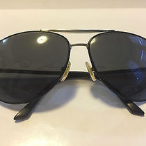Gucci Aviator Sunglasses in Black and Silver With Black Lens Photo
