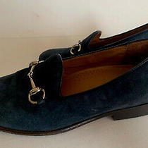 Gucci Baby Toddlers Boys Suede Horsebit Navy Loafers Moccasins Shoes Size 28 Photo