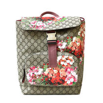 Gucci Backpack a Daypack Gray Gg Canvas Bloom Gg From Japan Photo