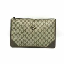 Gucci Beige Gg Web Supreme Vintage Clutch Pouch Cosmetic Bag  Photo