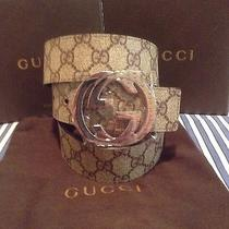 Gucci Belt 100% Authentic Beige/brown 95/38 Brand New W/ Tags and Box Photo