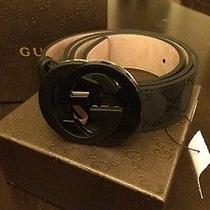Gucci Belt 100% Authentic Black 32/34 95cm With Box and Tag Photo