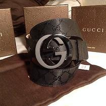 Gucci Belt 100% Authentic Black 95/38 Brand New W/ Tags and Box Photo