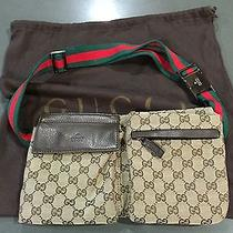 Gucci Belt Bag Dark Brown Leather and Canvas Photo