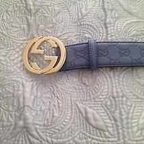 Gucci Belt Beautiful Bluish Color Size 40  Photo