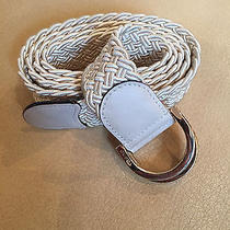 Gucci Belt- Cream White Braided Strap Belt Photo