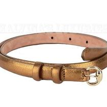 Gucci Belt Goldtone Hardware Bronze Leather Sz 38 / Us 2 Photo