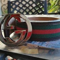 Gucci Belt Interlocking G Buckle Brown With Green Red 114984h17ar2061 Nordstrom  Photo