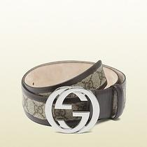 Gucci Belt Interlocking G Buckle Size Fit Waist 30-32 Photo