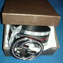 Gucci Belt (Navy & Grey) 50/125 Photo