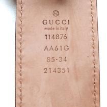 Gucci Belt Navy Leather Guccissima Belt With Interlocking G Buckle Photo