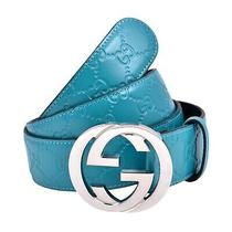 Gucci Belt Teal  Silver Buckle  Size 42 100 % Authentic Photo