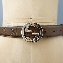 Gucci Belt With Interlocking G Buckle Brown Photo