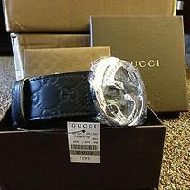 Gucci - Belt With Interlocking G Buckle Size 95cm or 38inches  Nwt Photo