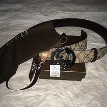 Gucci Belt With Interlocking G Leather Size Fit Waist 32-34 Photo