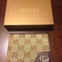 Gucci Bifold Money Clip Wallet Gg Canvas Authentic Photo