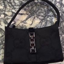 Gucci Black Canvas Formal Handbag With Dustbag Photo