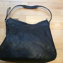 Gucci Black Guccissima Leather Bree Original Hobo Bag  Photo
