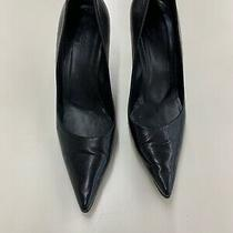 Gucci Black Leather Heels Size 7 Photo
