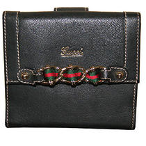 Gucci Black Leather Ladies Wallet  Photo