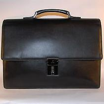 Gucci Black Leather Luxury Briefcase Photo