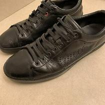 Gucci Black Leather Mens Sneakers Sz 10 Photo