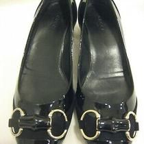 Gucci Black Leather Shoes.  Low Heels. Size 6.5. New. Photo