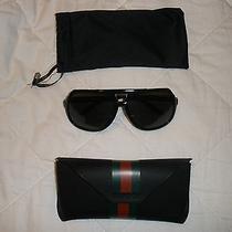 Gucci Black Plastic Aviator Sunglasses Photo