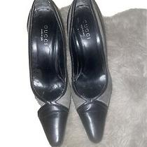 Gucci Black Pumps With Grey 9 1/2 B Photo