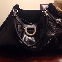 Gucci Black Python Leather D-Ring Large Hobo Handbag Photo