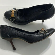 Gucci Black Wood Heels Pumps Sz 39 9 Photo