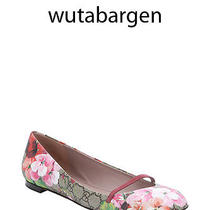 Gucci Blush Bloom Print Arielle Mary-Jane Ballerina Flats 39 595  Photo